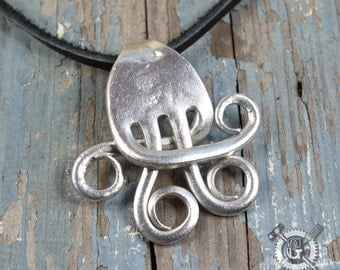 Quarternary Fork Pendant - Handmade from Recycled Pewter Forks - Unique Inspired Silverware Jewelry Creations from Doctorgus -