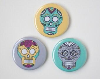 day of the dead magnet set sugar skulls