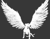 Pitbull Dog with Wings: Original Dog Art from Susan Sabo Photography