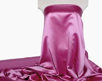 """Duchess satin Fabric 60"""" Grape /Magenta   ... bridal, formal, pageant, suits , home decor..wedding...crafts"""