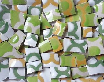 Mosaic Tiles--Coco--Lime- Green 91 Tiles