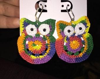 Hootylicious Crochet Earrings