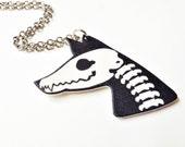 Fox Skeleton Skull Necklace