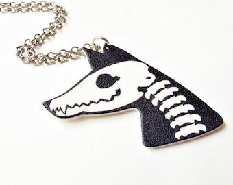 Fox Fossil Skull Necklace