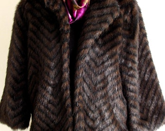 SALE # Winter Jacket #Faux Immitation #Outerwear #Brown #Vintage #Womans Clothing