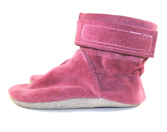 Soft Sole Pink Leather Infant Baby Boots 18 to 24 Month