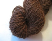100% Alpaca Yarn, Cordelia - Dark Red-Brown, Sport Weight 100 Yards, Homegrown Super Soft and Warm Knit Crochet Fiber Art Project