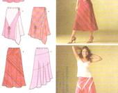 Bias skirt modern casual spring summer fashion sewing pattern Simplicity 4189 Sz 6 to 14 UNCUT