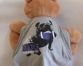 Child Cape or Apron:  Bulldog Ball Hog Handmade by Fashion Green T Bags