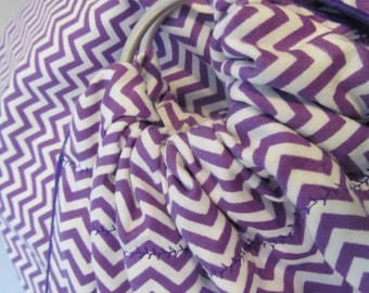 Midwifery Sling or Photography Prop - Double Layer Purple Chevron -SlingRings used on all these
