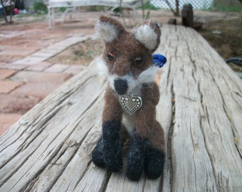 SALE  Fox Needle felted red fox