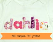 PDF ABC Letter Template Pattern  free shipping