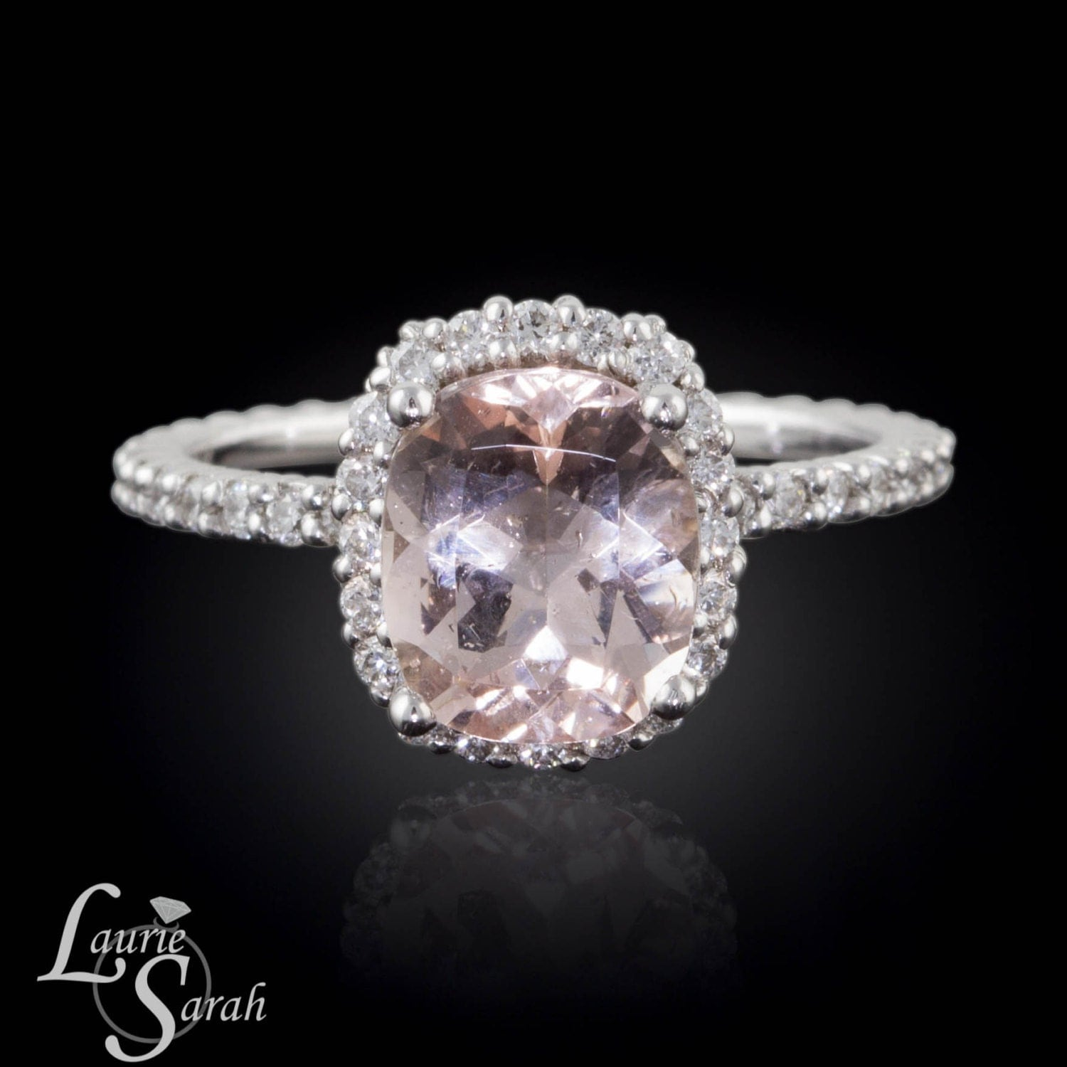 morganite ring white gold morganite engagement ring