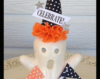 Halloween Decoration Tea Light Candle Holder Ghost Halloween Decoration for Halloween Party or Halloween Ornament