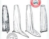 E-Pattern- Cordelia- Circa 1909-1914 Edwardian Skirt Pattern- Wearing History PDF Historical Costume Sewing Pattern