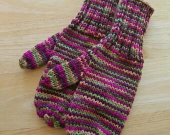 MITTENS HAND KNIT Adult Wool Kimona