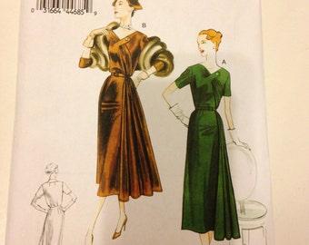 Vogue V8850 B5 Dress Pattern Size 8 10 12 14 16 Vintage 50s Dress