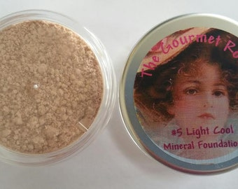 LIGHT COOL #5 Sheer Bare Foundation Cover Minerals 100 All Natural Mineral Makeup Full Size Jar Sample or Bulk Refill