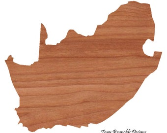 Personalized Gift Cutting Board Engraved South Africa Shaped Cutting Board Christmas Gift Kitchen Foodie Cutting Board Customized