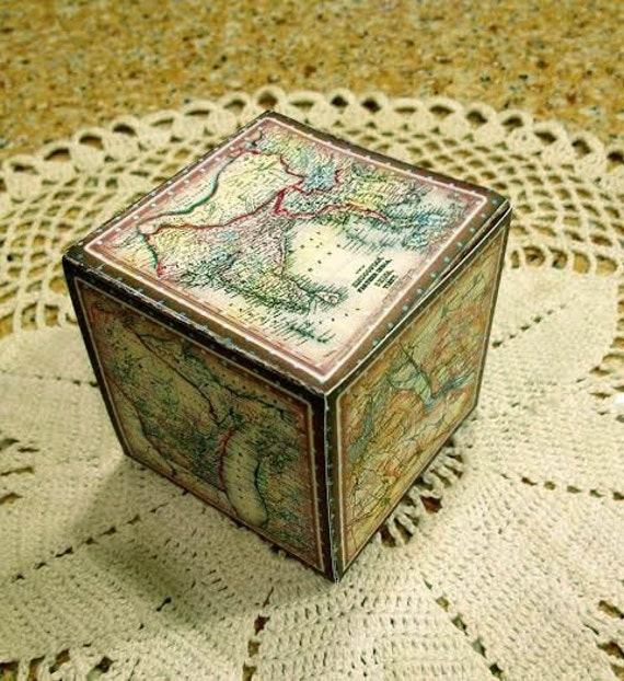 Old world maps vintage images decorative cubegift box template il570xn gumiabroncs Gallery