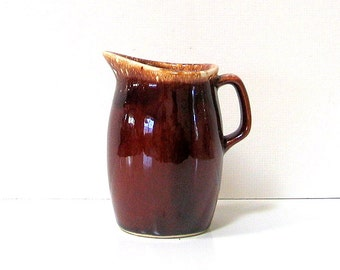 Small Vintage Hull Pitcher Creamer Brown