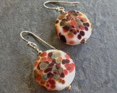 SALE!!!  30% OFF!!!  Lampwork Glass and Sterling Silver Earrings