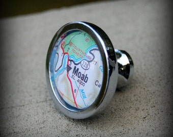 Moab Map Drawer Pull Cabinet Knob Handle