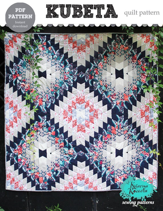 PDF pattern Instant Download Recollection KUBETA aztec modern QUILT by Katarina Roccella
