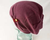 Slouchy Wool Hat in Marsala - Womens Hats