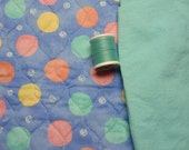 Quilted Crib Bedding Fabric - Dot Animal