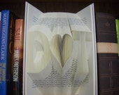 folded book art, wedding,anniversary, Valentine's Day, boyfriend, girlfriend