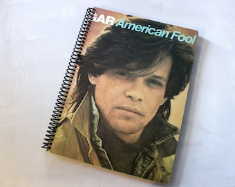 John Cougar American Dreams Record Album Blank Notebook- Upcycled Journal, Sketch book