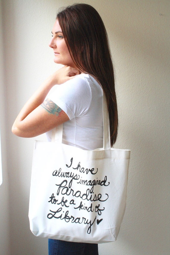Louis Borges Quote Tote Bag | Bibliophile Gift Guide