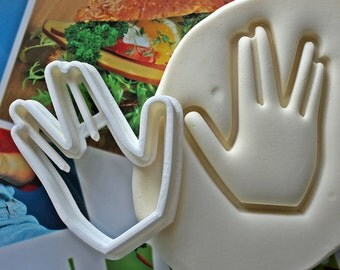 Star Trek Live Long And Prosper Cookie Cutter / Made From Biodegradable Material / Party Favor / Kids Birthday / Baby Shower / Cake Topper