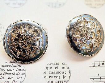 Sterling Silver Earrings, RMS Sterling Clip Back Earrings, Ladies 925 Silver Earrings, Vintage 925 Silver Jewelry