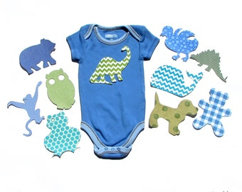Baby Shower Animal Applique  Set ...Fabric Iron On Appliques... Set Sizes Available