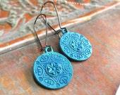 Yoga earrings blue dangle earrings Star of David  Bohemian Jewelry 10 dollars gift