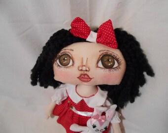 Anna Lisa Rag- A- Boo, A Cloth Art Doll by Liz Parent
