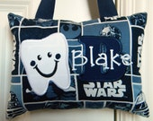 Tooth Fairy Pillow - Star Wars Blue and White