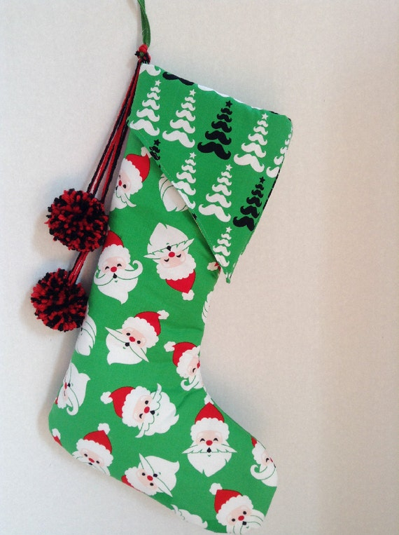 Sale Holiday Christmas Stocking Whimsical Merry By Aggieray