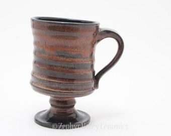 Ceramic Coffee Mug - Cup Goblet - Stoneware Drinking Vessel - Coffee Mug - Tea Cup - Latte Cup - Black