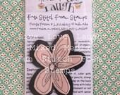 Fun Stitch foam stamp mixed media daidy flower handmade