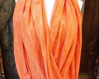 Orange Infinity Scarf, Fall scarves, yoga scarves, Halloween scarves, Fall fashion accessories,Tennessee Orange Women's scarf, Nursing scarf