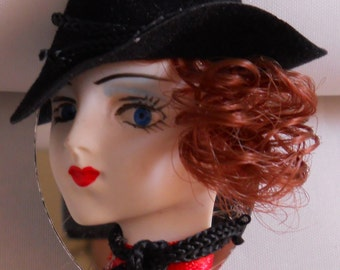 Lady Head Woman doll Face Porcelain Country Chic