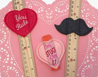 In the Hoop Valentine Favors Machine Embroidery Designs Instant Download