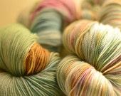 Simply Sock in Hello Bunny superwash merino wool, nylon fingering weight sock yarn