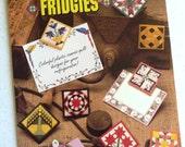 Refrigerator Magnets, Plastic Canvas, quilt block fridgies, pattern booklet, Annies Attic,unique designs,,kitchen decor, note holder, gifts