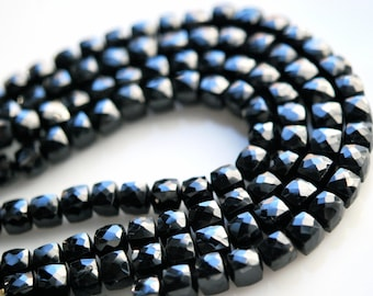 1/2 strand black onyx cubes-  SUPER LOW PRICE