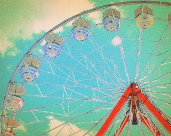 Country Fair Ferris Wheel #1 - Nostalgic Vintage Style Nursery Decor - Original Color Photograph by Suzanne MacCrone Rogers