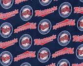 Minnesota Twins Baseball  Fleece Hand Tied Baby Pet Dog Blanket Shower Gift